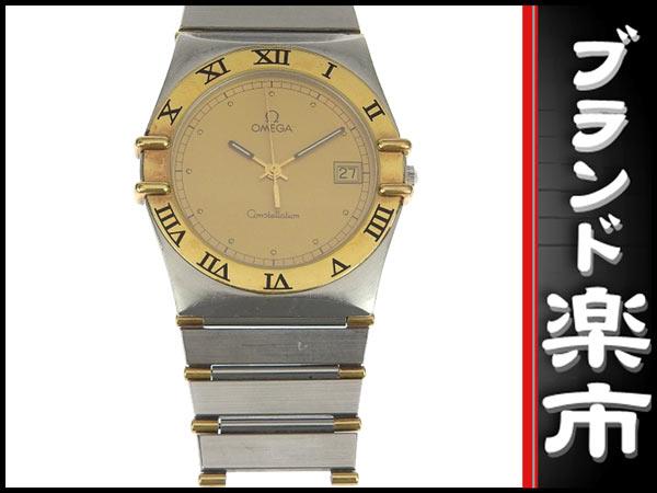 091円☆03楽市☆本物 オメガ OMEGA コンステレーション メンズ クォーツ 腕時計 ゴールド文字盤