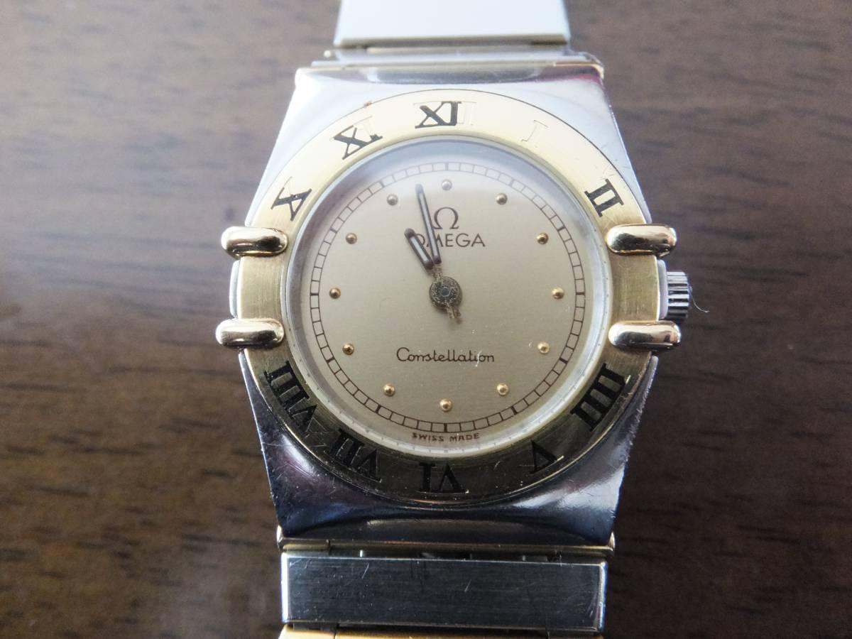 ☆本物 オメガ OMEGA コンステレーション レディース クォーツ 腕時計 シャンパン文字盤