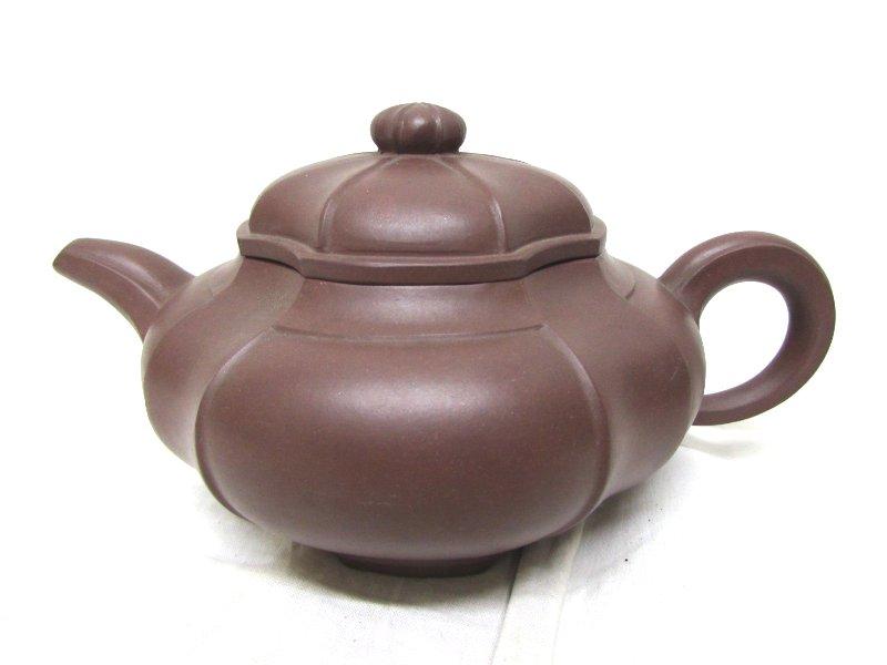 銘あり 朱泥の急須 中国 煎茶道具
