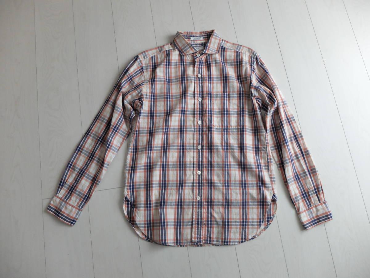 送料164円★極上★春夏★★ENGINEERED GARMENTS エンジニアードガーメンツ シャツS  Spread Collar Shirt ブロードクロス