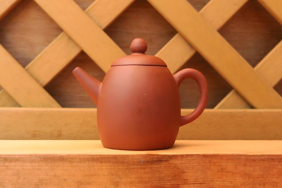 急須 甕型紫砂壺 清末期 煎茶道具 朱泥壺 無傷