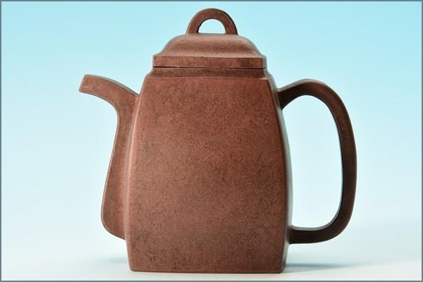 ■0404 【収集家放出】煎茶道具 唐物 漢方壺 朱泥 茶注 急須 13x7.7x12cm
