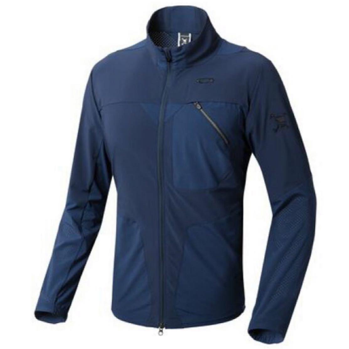 オークリー メンズ ゴルフ 長袖ウインドブレーカー Skull Breathable Jacket スカル刺繍 412549JP OAKLEY ネイビー サイズM