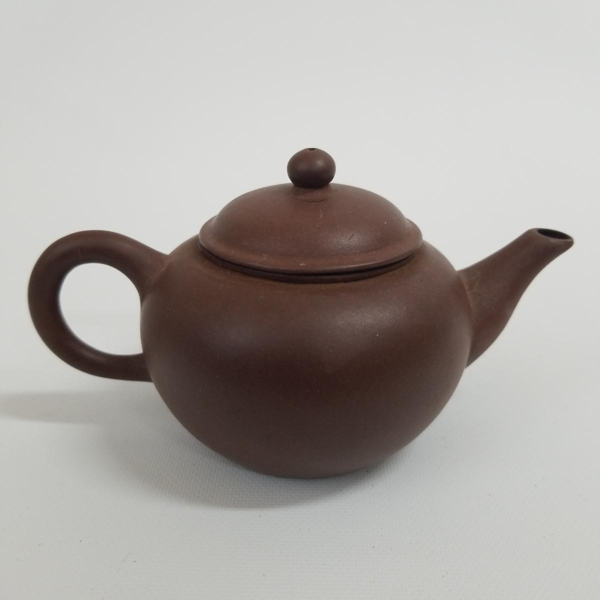 朱泥急須 中国古玩 中国宜興 紫砂 朱泥 水平 煎茶道具