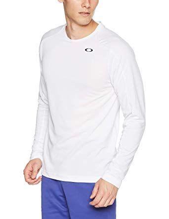 ★オークリー OAKLEY 新品 メンズ UVカット 吸汗速乾 長袖Tシャツ 白[434249-100-JM] 一 三★QWER★