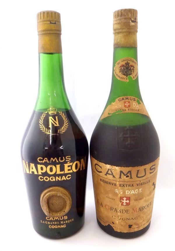 1000円~ 酒2本セット CAMUS HORS DAGE RESERVE EXTRA VIEILLE カミュ オルダージュ/CAMUS NAPOLEON カミュ ナポレオン 未開栓 G727