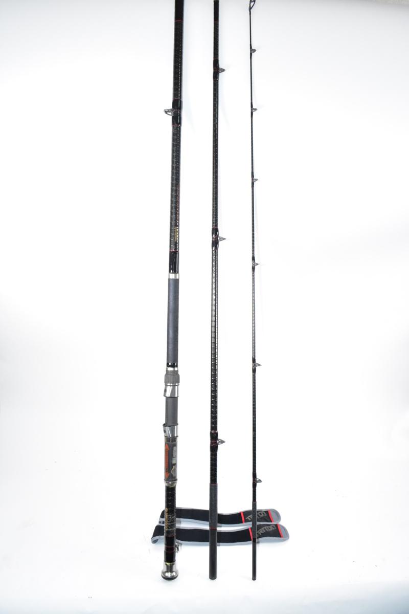 ☆希少! SHIMANO/シマノ 船竿 トライトン 100-360 かかり釣り ロッド 3本継 釣竿 TRITON 3509-TT