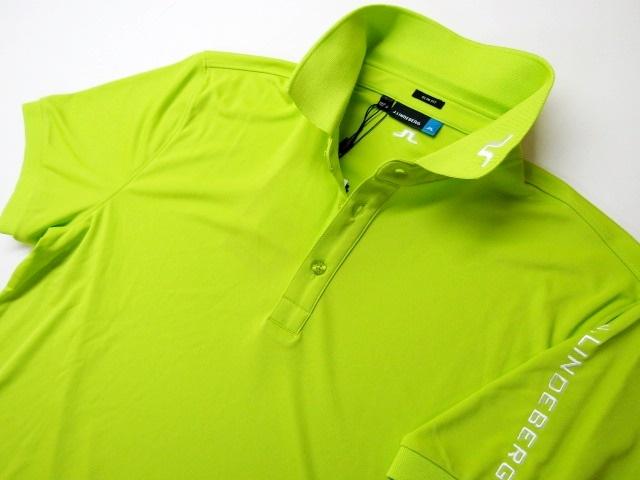 ◆高品質!J.LINDEBERG リンドバーグ11880.吸汗速乾ポロシャツ(M)ライム/新品◆