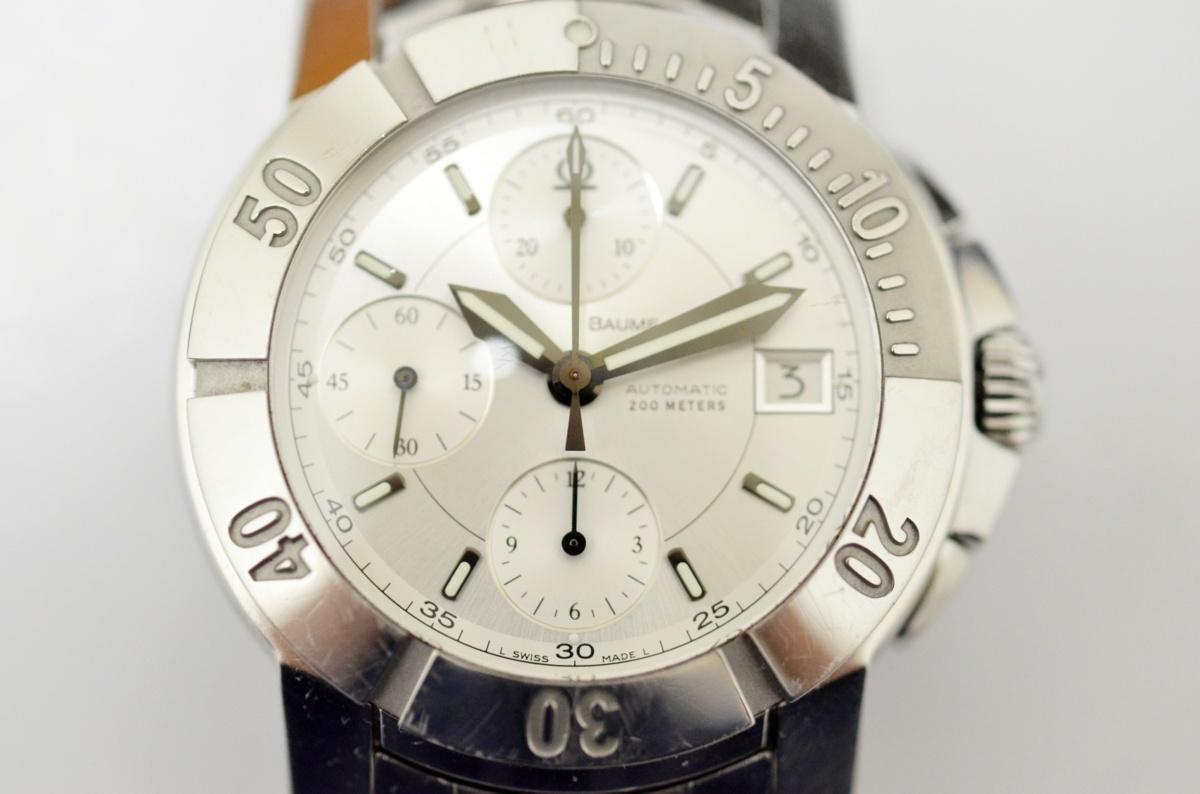1円~美品 BAUME&MERCIER ボーム&メルシェ ケープランド 65352 自動巻き SS メンズ腕時計 403715