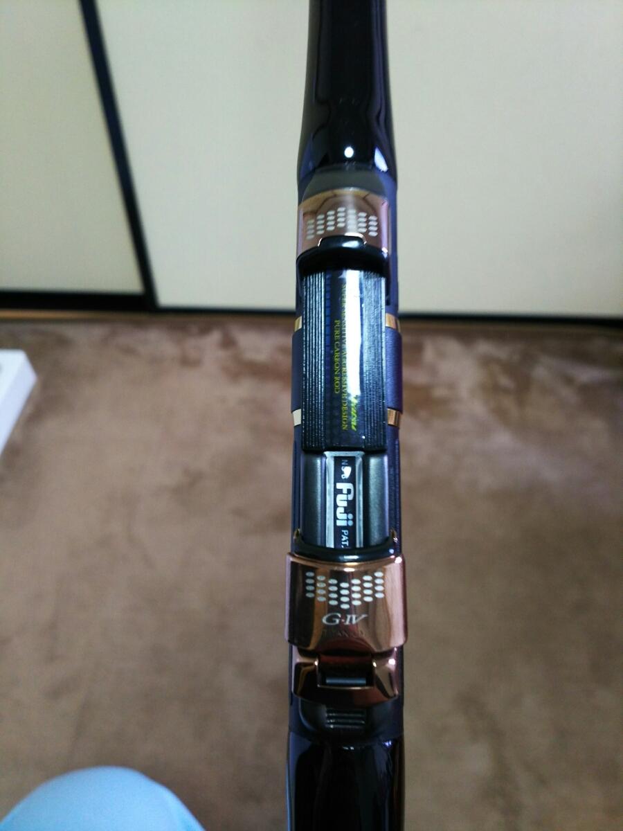 がまかつ がま磯インテッサ GーⅣ 125-50 美品 リールシートラバー亀裂なし。新品予備穂先スーパートップ新品トップガイド付き。