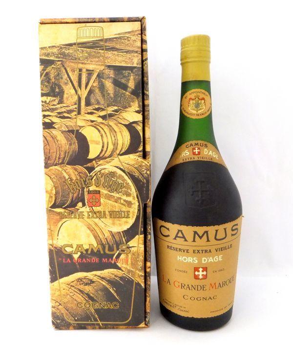 1000円~ 酒 CAMUS HORS DAGE RESERVE EXTRA VIEILLE カミュ オルダージュ リザーブ エクストラ ヴィエイユ 箱付 未開栓 H745