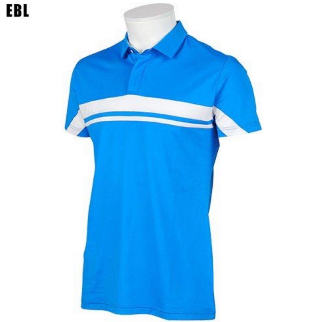 (デサントゴルフ)DESCENTE GOLF ブライト鹿の子 半袖ポロシャツ DGM1537S ブルー Oサイズ/