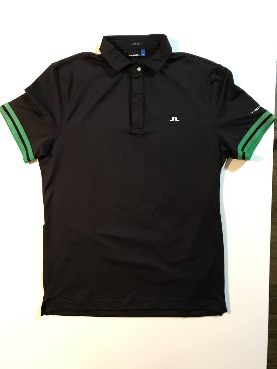 【J.LINDEBERG】ポロシャツ Mサイズ メンズ ゴルフウェア Jリンドバーグ