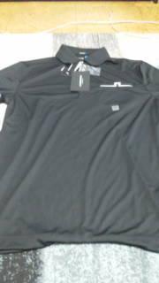 J リンドバーグ 半袖シャツ 黒 M寸 14,040円 中古美品 格安