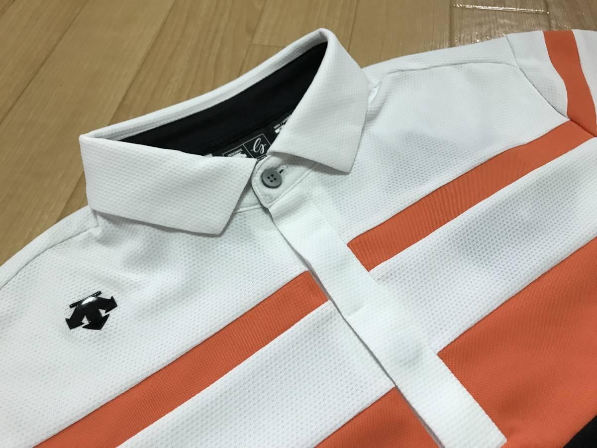 DESCENTE GOLF (デサントゴルフ) 半袖ニットポロシャツ DGMLJA30(ホワイト)L