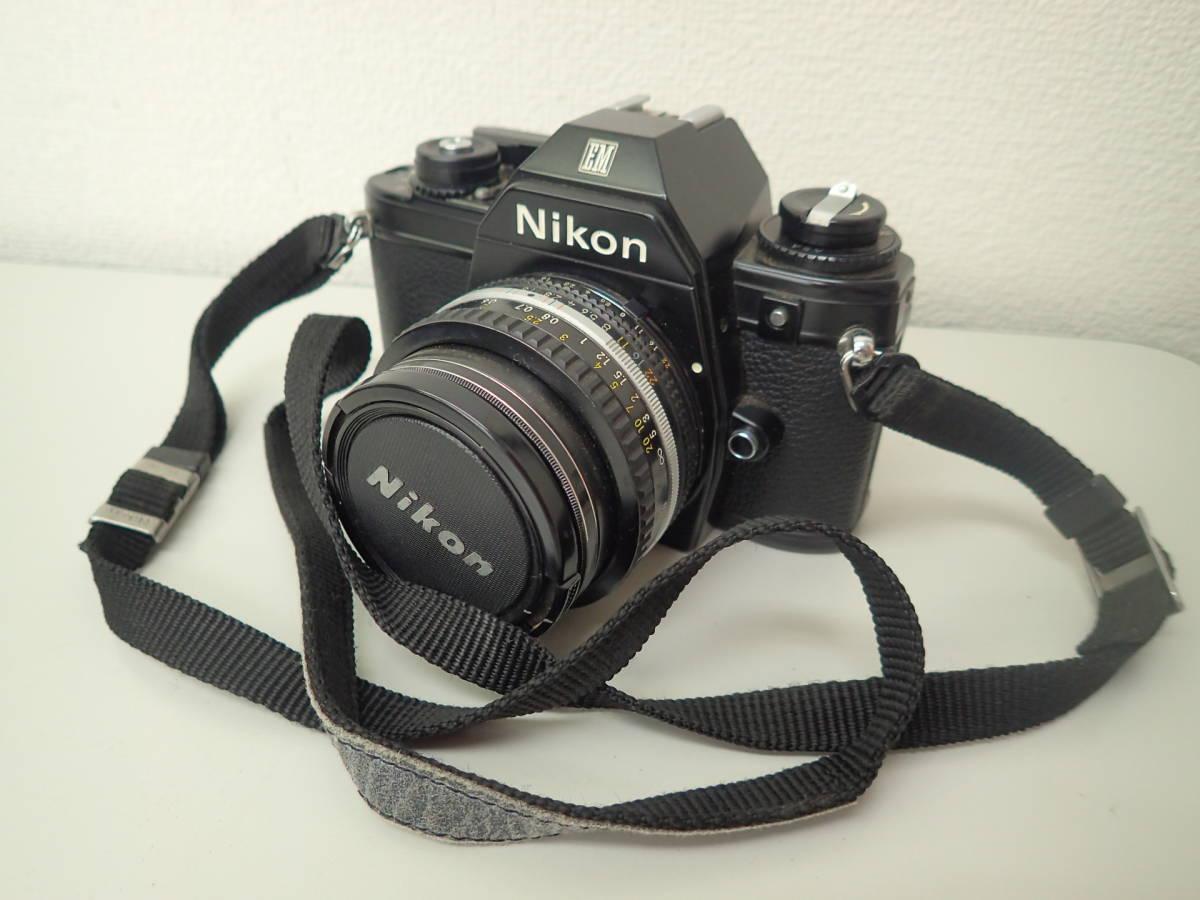 1-【ジャンク】ニコン Nikon EM 6691229 レンズ NIKKOR 50mm 1:1.8 ★