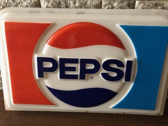 看板 ノベルティ 店舗用 ディスプレイ ペプシコーラ PEPSI アクリル看板 レトロ 昭和 コレクション