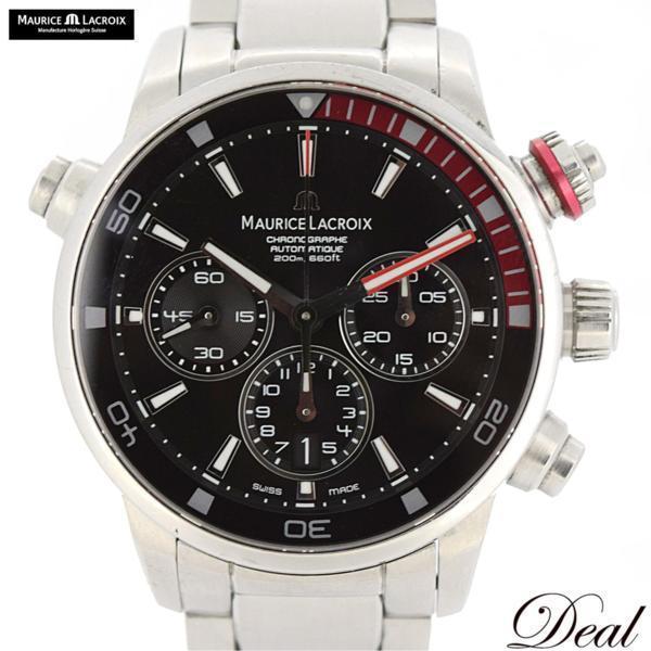 値下げ モーリスラクロア ポントスS 自動巻 PT6018 黒 メンズ 腕時計