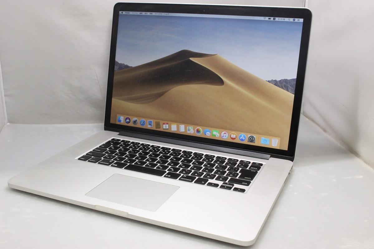 1円~【キズあり】Apple / MacBook Pro(Retina, 15-inch, Mid 2015)A1398 / Corei7 / 16G / SSD256G /充放電回数:626 / 動作確認済み