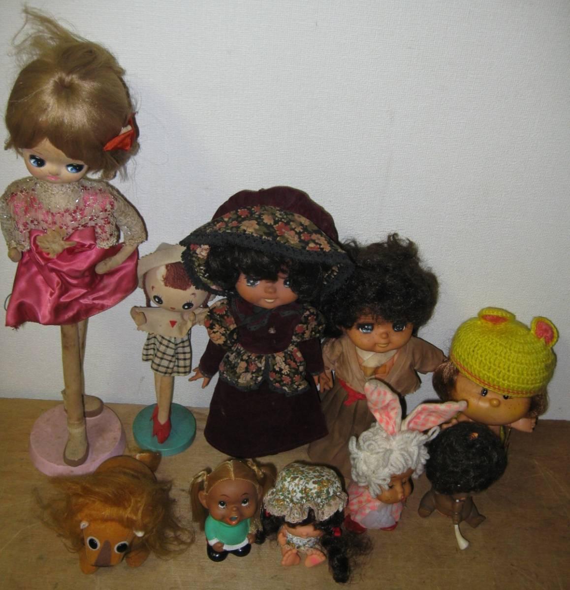 昭和レトロ ソフビ人形・針金人形・ポーズ人形・ぬいぐるみ 10体まとめて