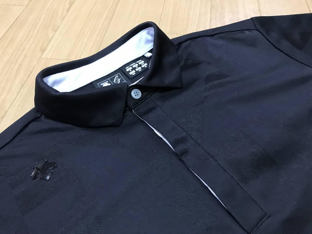 DESCENTE GOLF (デサントゴルフ) オリガミジャカード 半袖ポロシャツ DGMLJA13(ブラック)L