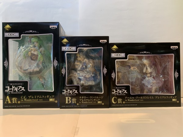 【未開封】一番くじ コードギアス A賞 B賞 C賞 3体セット 箱いたみあり