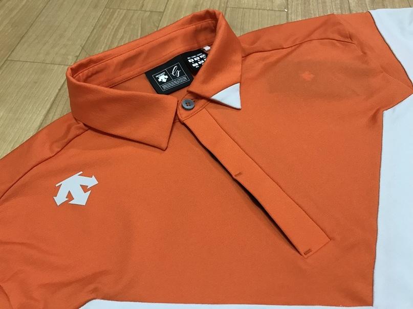 DESCENTE GOLF(デサントゴルフ) カッティングデザイン ショートスリーブシャツ DGMLJA00NT(グレー)O