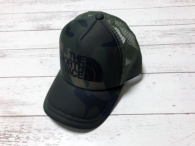 ■ノースフェイス THE NORTH FACE ロゴメッシュキャップ 帽子 フリーサイズ ウッドランドカモ 新品 送料340円