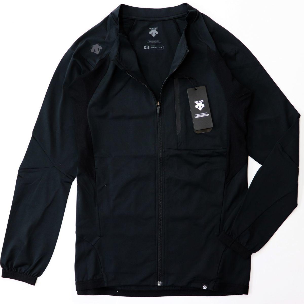 ★デサント DESCENTE 新品 メンズ 吸汗 速乾 防風 撥水 トレーニング ジャケット 黒 ブラック XLサイズ [DAT2790Z-BLK-O]二★QWER★