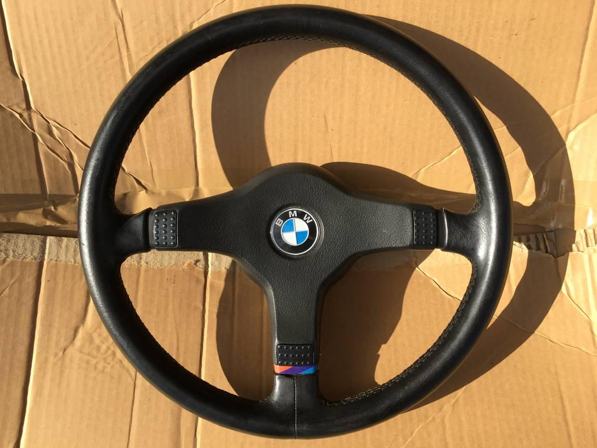 純正 BMW E24 M635csi 6シリーズ 左ハンドル レザー ステアリング ハンドル ホイール 当時のもの