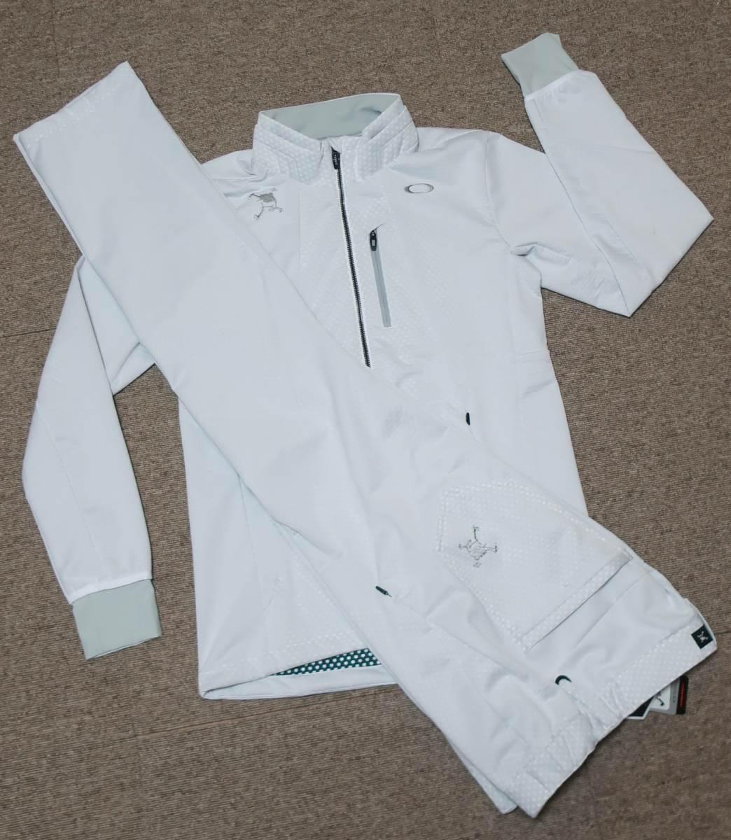 M / OAKLEY GOLF(オークリー ゴルフ) Skull Bonded Wind Jacket 3D Pants スカル セットアップ上下セット /412636JP 422505JP-100